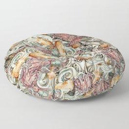 Octopuses Vintage Fantasy Floor Pillow