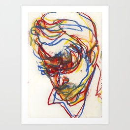 Head of a Young Man Study 1 Art Print