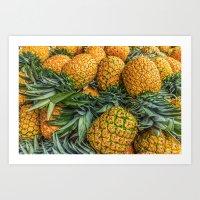 Pineapples at Market Art Print