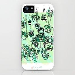Plant hangout iPhone Case