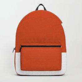 Solid Retro Orange Backpack