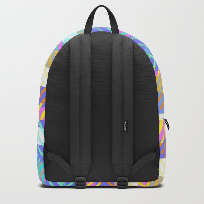 Weaving - golden and blue Backpack
