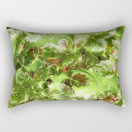 Strawberry leaves with extras Rectangular Pillow
