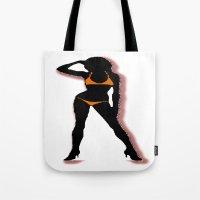 bikini Tote Bags featuring BIKINI by Trokola
