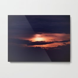 Sun and Clouds Metal Print
