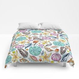 Illustrated Seashell Pattern Comforters