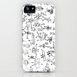 Alexa Doodle iPhone Case