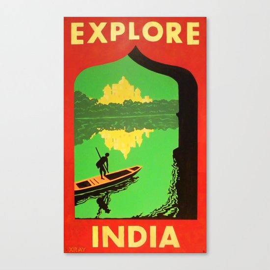 """Explore India"" Canvas Print"