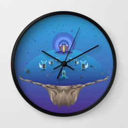 Blue Family from Gameboy Wall Clock
