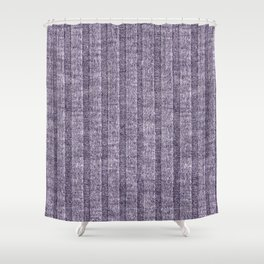 Lilac Jersey Knit Pattern Shower Curtain