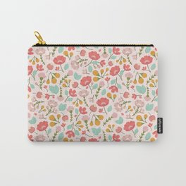 Modern Woodland Floral Carry-All Pouch