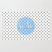 xoxo Area & Throw Rugs featuring XOXO by Pati Designs