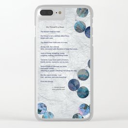 My Thread is a Rope Clear iPhone Case