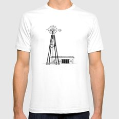 Old Barn White X-LARGE Mens Fitted Tee