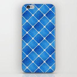 Denim Pattern with Diagonal Lines iPhone Skin