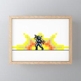 Ninja 8bit Framed Mini Art Print