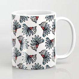 Boho flower bloom vector all over print. Coffee Mug
