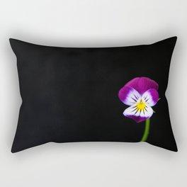 Violet Flower Rectangular Pillow