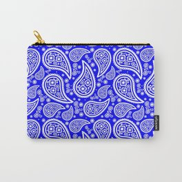 Paisley (White & Blue Pattern) Carry-All Pouch