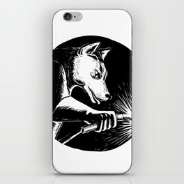 Dingo Dog Welder Scratchboard iPhone Skin