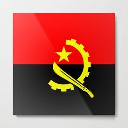angola country flag Metal Print