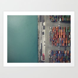 Container terminal Art Print