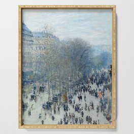 Claude Monet - Boulevard des Capucines, 1873 Serving Tray