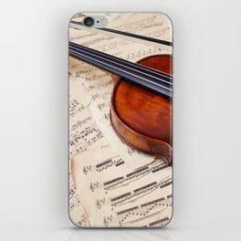 Violin music and notation iPhone Skin