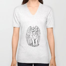 Tale of the Winged Tiger Unisex V-Neck