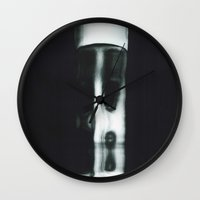 demon Wall Clocks featuring Demon by Sarah Van Neyghem