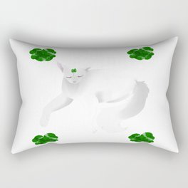 clover cat Rectangular Pillow