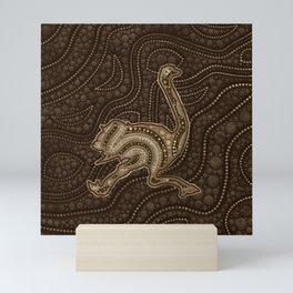 Dot Art Golden Ostrich Mini Art Print