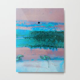 Rusted Middle Mauve and Turquoise Metal Print