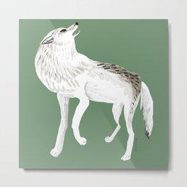 Totem Alaska tundra wolf Metal Print