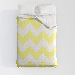 Butter Yellow Chevron Comforters