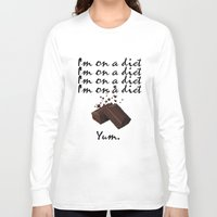 chocolate Long Sleeve T-shirts featuring Chocolate by Thomsky
