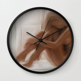 Lonely girl. Wall Clock