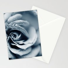 Rose - powder blue Stationery Cards