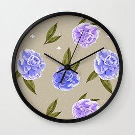 Paris Style Summer Botanical Wall Clock
