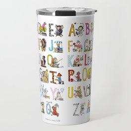 Alphabets Travel Mug