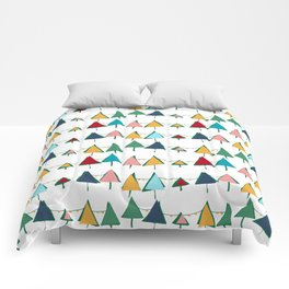 Cute Christmas tree colorful Comforters