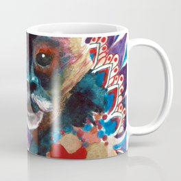 Monkey Floral Yoga Mandala Coffee Mug