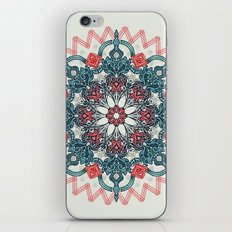 Coral & Teal Tangle Medallion iPhone Skin