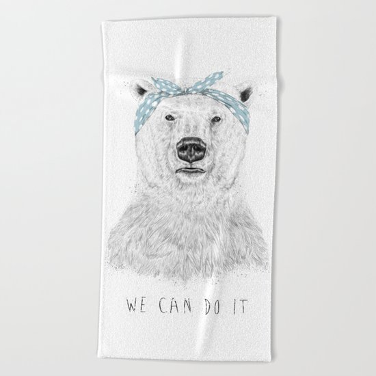We can do it Beach Towel