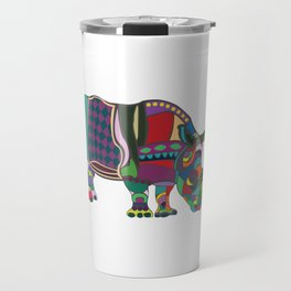 Abstract Rhino Travel Mug