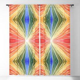 Rainbow Rays Kaleidoscope Blackout Curtain
