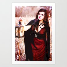 Is She a Good Witch or a Bad Witch?  Art Print