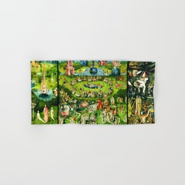 The Garden of Earthly Delights Triptych by Hieronymus Bosch Hand & Bath Towel