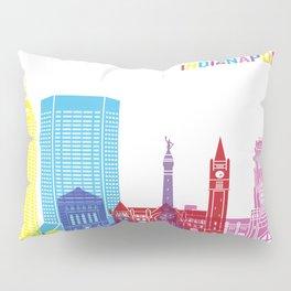 Indianapolis skyline pop Pillow Sham