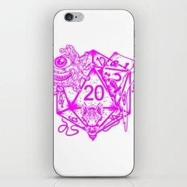 Female Tabletop Gift Print Womens Fantasy D20 RPG Dice Art Print iPhone Skin